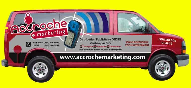 distribution publicité accroche